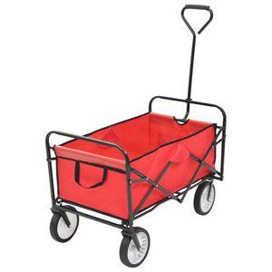 dereoir Klappbarer Handwagen Stahl Rot