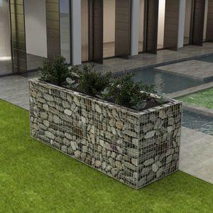 Gabionen-Hochbeet Garten-Hochbeet Hochbeet Stahl 270×90×100 cm