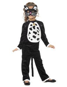 Halloween Kinder Kostüm Katze Karneval verkleiden Gr.7-9 Jahre