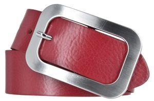 Vanzetti Damen Leder Gürtel Damengürtel rot 40 mm Ledergürtel 100
