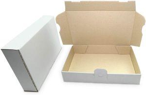 verpacking 100 Maxibriefkartons Versandkartons Faltschachtel Faltkarton Maxibrief 240 x 160 x 45 mm   Weiss   MB-3