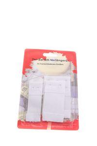 3er Set BH Verlängerer, BH Verlängerung, Erweiterung elastisch, 3 Größen, Farbe: Weiß