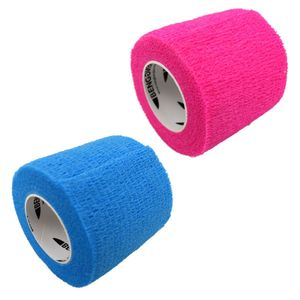 Bandage 5cm selbsthaftend Haftbandage pink oder blau Fixierbandage Handbandage, Farbe:pink