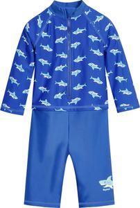 Playshoes - UV-Schutz Einteiler für Jungen - Langarm - Hai - Blau, 74/80