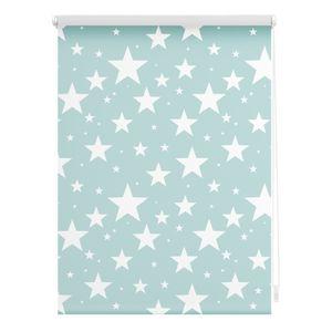 Rollo Klemmfix, ohne Bohren, blickdicht, Sterne - Blau 60 x 150 cm (B x L)
