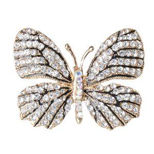 Bunte Kristall Strass Schmetterling Hochzeit Brosche Pin Schmuck Farbe 5