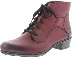 Rieker Y0713-35 Damen Stiefel Stiefeletten Ankle Boots Warmfutter, Größe:40 EU, Farbe:Rot