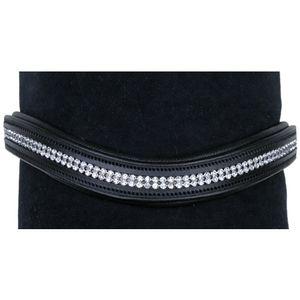 Stirnband -Crystal-, Farbe:schwarz, Groesse:Warmblut