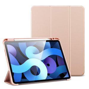 Kartokner Hülle für iPad 10.2, Schutzhülle für iPad 8. Generation 2020/7. Generation 2019 [Auto Schlaf/Weckfunktion] [Leichte Hülle mit Ansichtsstand] - Rosegold