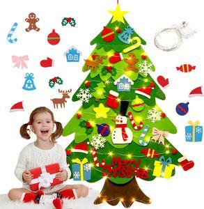 Filz Weihnachtsbaum,DIY Weihnachtsbaum 3.2ft DIY Weihnachten Set Hängend Nachbildung für Kinder Weihnachten Geschenk