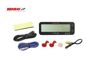 Koso PRO-1 Drehzahlmesser mit Thermometer und Stundenzähler
