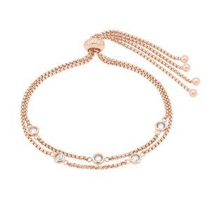 JOOP! Damen Armband 2028367 Sterling Silber rosé vergoldet 21 cm