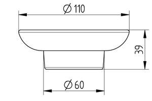 AVENARIUS Ersatzglas / Ersatzschale zu Avenarius Seifenschalen der Serien 200, 360, 420