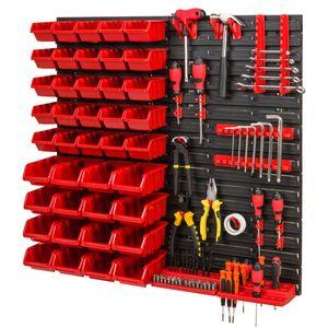 Stapelboxen Wandregal Box Sichtlagerkästen Schüttenregal Lagersystem 41 Boxen