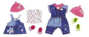 1 Set BABY born Deluxe Jeans Collection, Puppen-Kleiderset, 3 Jahr(e), Mehrfarben, 43 cm, Mädchen, 43 cm, 2-fach sortiert