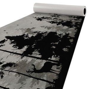 Läufer Küchen Premium Teppich rutschfest abwaschbar Schwarzwald Grau 50x120cm
