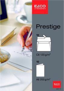 20tlg ELCO Prestige Klappkarten Doppelkarten m Umschlag Versandtasche Kuvert