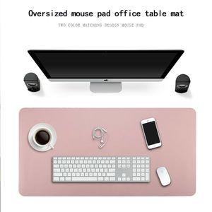Multifunktionale Schreibtischunterlage, Kunstleder Tischunterlage, 80CM×40CM, Schreibtischmatte Mauspads, Wasserdicht und rutschfest Schreibunterlage für Büro und Zuhause(Pink + Silber)