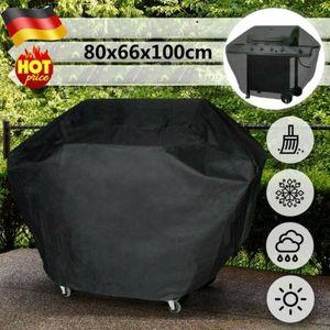 Grillabdeckung für BBQ-Gasgrills - Witterungsbeständiges und Haltbares Material Wasserdicht Schutzhülle, in Schwarz, in verschiedenen Größen 80x66x100cm