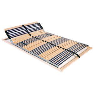 Perfekt® Komfort Lattenrost,Rollrost,Hochwertiger Extra starker,Rolllattenrost mit 42 Latten 7 Zonen 140 x 200 cm❤