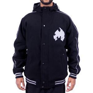 Wu Wear Method Man Melton Jacke, Urban Streetwear Fashion Winterjacke, Hip Hop, Herren Jacket Größe: L Farbe: Schwarz