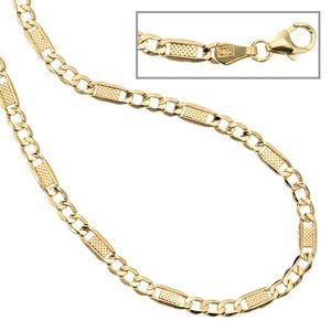 JOBO Halskette Kette 333 Gold Gelbgold 45 cm Karabiner
