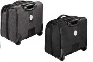 Hama Business Trolley Pilotenkoffer Aktenkoffer mit Rollen zum Ziehen Laptopfach grau 129392