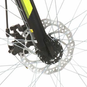 dereoir Mountainbike 21 Gang 27,5 Zoll Rad 50 cm Schwarz
