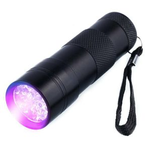 UV Taschenlampe und Geldscheinprüfer Ultraviolett, 12 LEDs und Batteriebetrieb Schwarzlicht