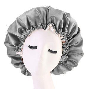 3 Stück Extra Große Satin Seide Schlafmütze Haube Kordelzug Schlaf Kappe Verstellbarer Nacht Schlaf Hut Haar Turban