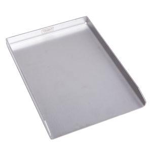 TAINO Plancha Grillplatte aus Edelstahl massiv 4mm BBQ-Grillschale Rechteckig 30 x 40 cm