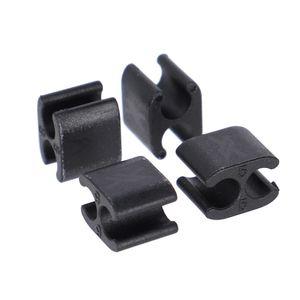 XLC Kabelclip BR-X122 Ø5mm Kabel, Ø5mm Aussenhülle, schwarz (4er Pack)
