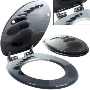 Toilettensitz mit Absenkautomatik und Edelstahlscharnieren - Motivwahl, Motiv/Farbe:Stonedesign