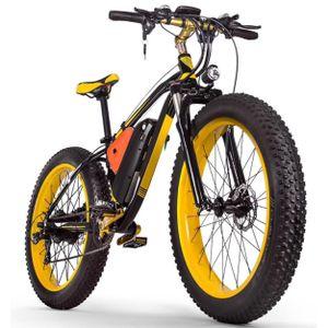 26 Zoll e-Fatbike mit 1000W Motor 21 Gang Elektrofahrrad e-Bike mit Federgabel und Scheibenbremse