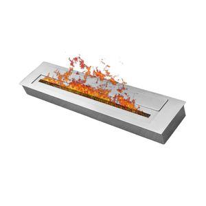 Brennkammer aus Edelstahl fürEthanol 60 cm Silber