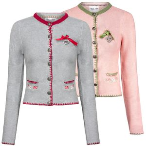 HAILYS Damen Trachten Strickjacke, Farbe:hellgrau, Größe:M