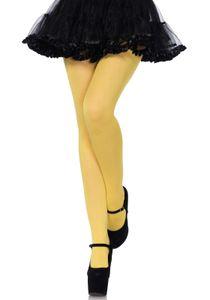 Leg Avenue Nylon Tights sexy Strümpfe : LEG Farbe - gelb, LEG Größe - Einheitsgröße (34-40)