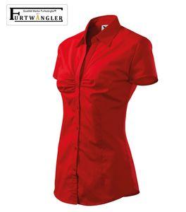 Bluse Furtwängler Chic rot XL Damen Hemd Popeline 100 % Baumwolle