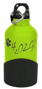 hundetrinkflasche H2o2go 350 ml Aluminium grün