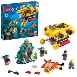 LEGO 60264 City Meeresforschungs-U-Boot, Tiefsee-Unterwasserset, Tauch-Abenteuerspielzeug für Kinder