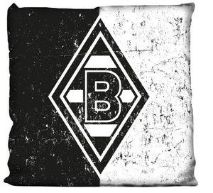 """Borussia Mönchengladbach Kissen """"Schwarz-Weiß"""""""