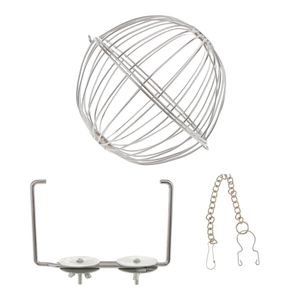 13cm Edelstahl Futterball Kugel Metall Nager für Hase Meerschweinchen Kaninchen Chinchillas Spielzeug Käfig Zubehör