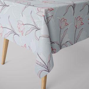 SCHÖNER LEBEN. Tischdecke Tulpen mint verschiedene Größen, Tischdecken Größe:130x200cm
