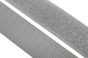 dalipo - Klettband  zum annähen, aufnähen - 20 mm Breite - hellgrau