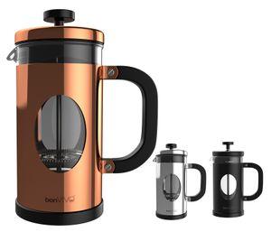 bonVIVO Kaffeebereiter, French Press, Kaffeepresse, Kaffee-Kocher, Kaffee-Kanne, Farbe:schwarz, Größe:350 ml