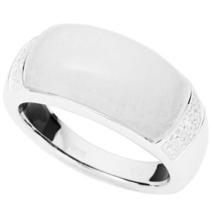 Fossil JFS00178 Damen Ring Silber Marmor Zirkonia 53 (16.9)