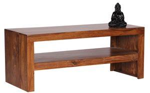 Couchtisch Massivholztisch AMAR 110x45 cm Holz Sheesham Landhaus-Stil