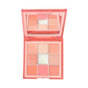 9 farben Lidschatten-palette Langlebige Multi Reflektierende Schimmer Matte Glitter Lidschatten Make-Up Palette Farbe Rosa