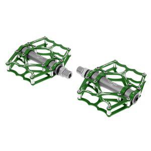 "1 Paar 9/16 \""MTB Fahrradpedale Mountainbike Plattformpedale Aus Aluminiumlegierung Rot Grün 118 x 103 mm"