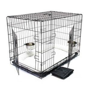 Haustier Hundebox Transportbox Komplettset Hundekäfig Faltbar Transportkäfig